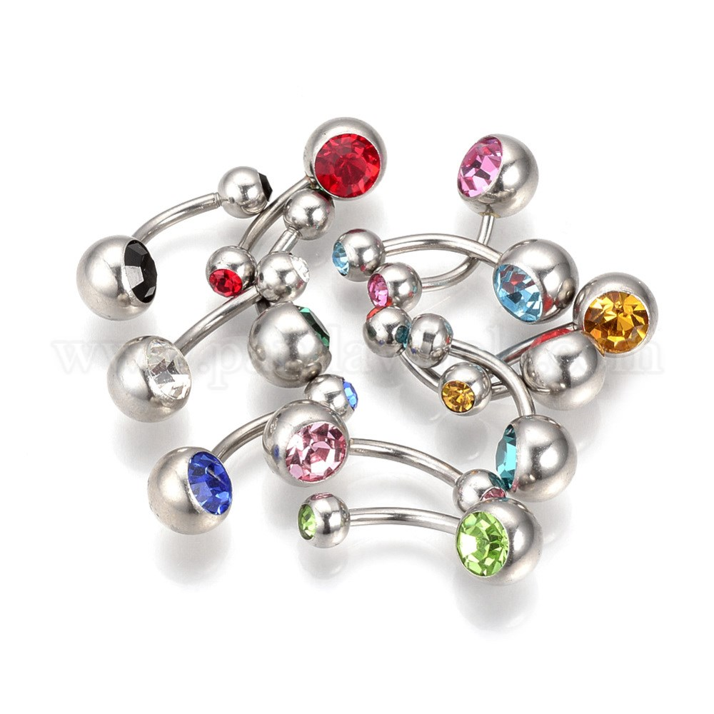 304 Stainless Steel Navel Rings Belly Rings Piercing Jewelry
