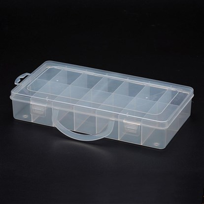 Polypropylene Plastic Bead Storage Containers, 14 Compartments, Rectangle-1