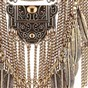 Exaggeration Alloy Bib Necklaces, Fringe Chain Necklaces, with Leaves Tassel, 18.3""
