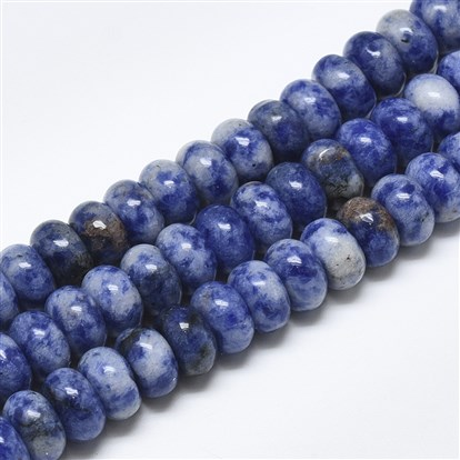 Natural Blue Spot Jasper Beads Strands, Rondelle