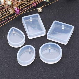 DIY Silicone Moulds, Resin Casting Molds, For UV Resin, Epoxy Resin Jewelry Makings, Drop/Flat Round/Oval/Rectangle/Square