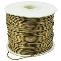 DarkKhaki Korean Waxed Polyester Cord, Bead Cord, DarkKhaki, 0.8mm; about 185yards/roll