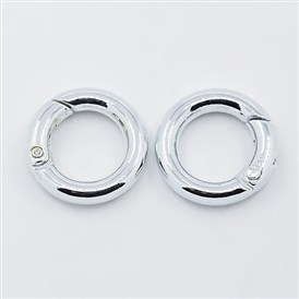 Alloy Spring Gate Rings, O Rings, 20x12x4mm