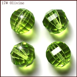 YellowGreen Imitation Austrian Crystal Beads, Grade AAA, Faceted, Round, YellowGreen, 10mm, Hole: 0.9~1mm