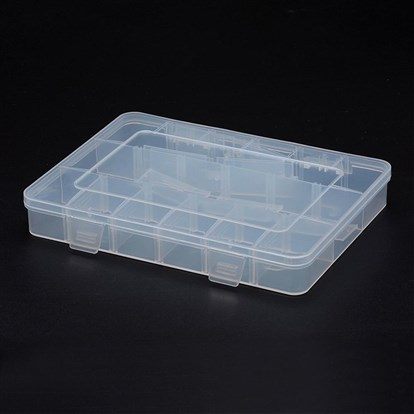 Polypropylene Plastic Bead Storage Containers, Removable, 18 Compartments, Rectangle-1