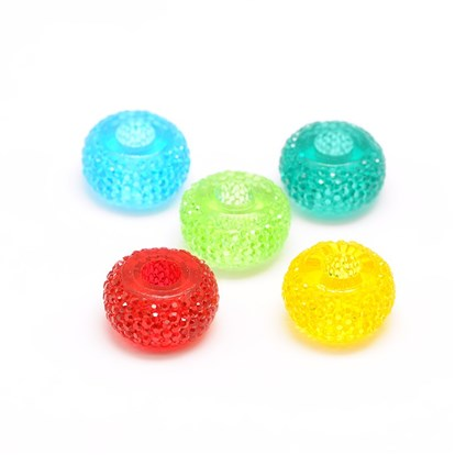 Rondelle Resin Beads, 15x8mm, Hole: 5mm-1