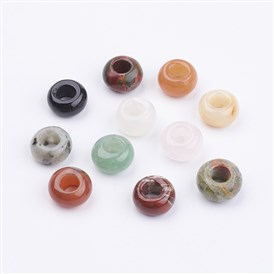 Gemstone Beads, Large Hole Hole Beads, Rondelle