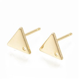 Brass Ear Stud Components, Triangle