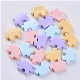 Resin Beads, No Hole/Undrilled, Puzzle