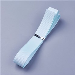 "LightCyan Grosgrain Ribbons, Polyester Ribbons, Blue Series, LightCyan, 5/8""(16mm); about 1yard/strand(0.9144m/strand)"