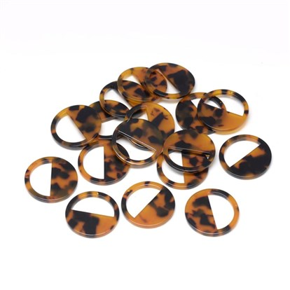 Cellulose Acetate Pendants, Flat Round-1