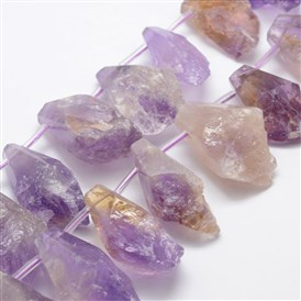 Natural Ametrine Beads Strands, Nuggets, Faceted