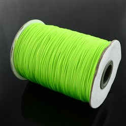 LawnGreen Korean Waxed Polyester Cord, Bead Cord, LawnGreen, 0.8mm; about 185yards/roll