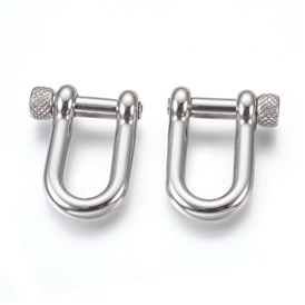 304 Stainless Steel Screw D-Ring Shackles Clasps