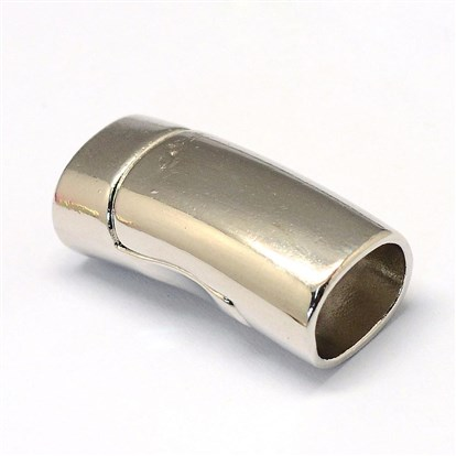 Alloy Magnetic Clasps, Oval-1