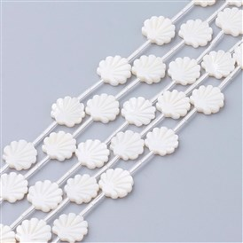 White Shell Beads, Shell Shaped