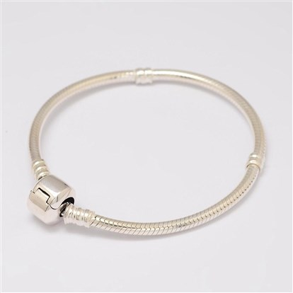 "925 Sterling Silver European Style Bracelets for Jewelry Making, 175mm(6.89"")-1"