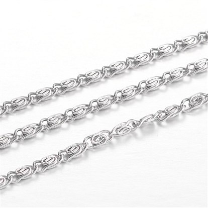 304 Stainless Steel Lumachina Chains, for Jewelry Making-1
