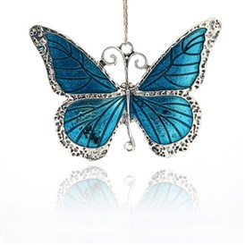Alloy Enamel Pendants, Butterfly, Antique Silver, 64x86x3mm, Hole: 4.5mm
