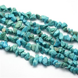 Synthetic Turquoise Beads Strands, Chips