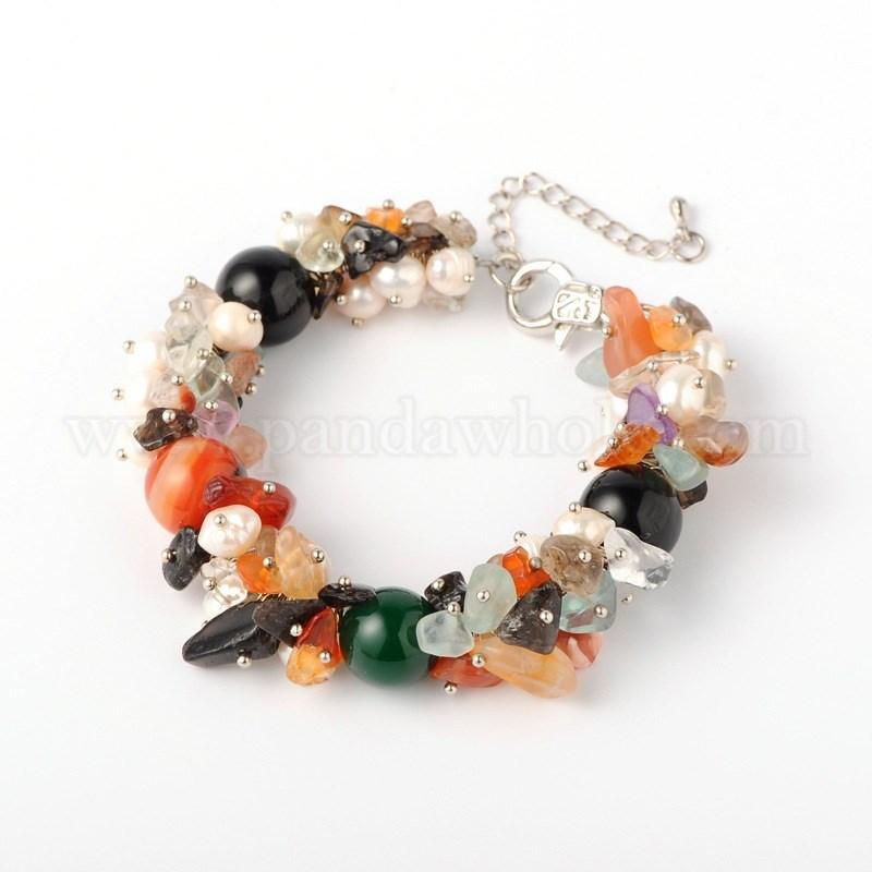 vente en gros copeaux de pierre naturelle bracelets avec perles nacr es alliage homard. Black Bedroom Furniture Sets. Home Design Ideas