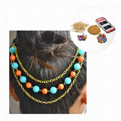 Mixed Material Free Tutorial DIY Jewelry Sets, Beaded Hair Clips Making