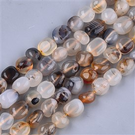 Natural Marine Chalcedony Beads Strands, Nuggets