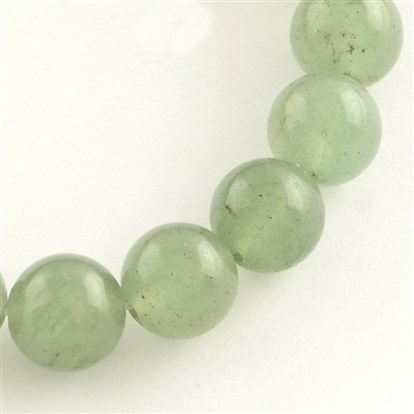 Natural Gemstone Green Aventurine Round Bead Strands-1