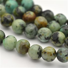 Natural African Turquoise Round Beads Strands