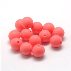 LightCoral Food Grade Environmental Silicone Beads, Chewing Beads For Teethers, DIY Nursing Necklaces Making, Bowknot, LightCoral, 21x29x10.5mm, Hole: 2mm