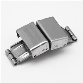 Rectangle 304 Stainless Steel Watch Band Clasps, 34x15x8mm, Hole: 3x14mm