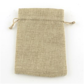 Burlap Packing Pouches, Drawstring Bags