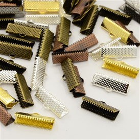 Mixed Iron Ribbon Ends, 16x8mm, Hole: 1mm; about 345pcs/200g