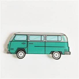 Acrylic Safety Brooches, with Iron Pin, Bus