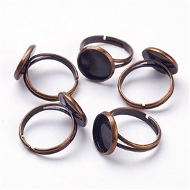 Adjustable Brass Finger Ring Setting, Plate