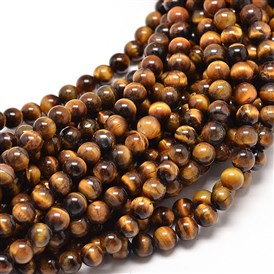 Natural Tiger Eye Round Bead Strands