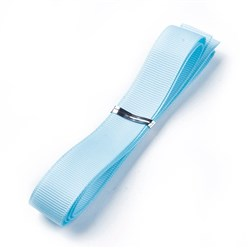 "Aquamarine Grosgrain Ribbons, Polyester Ribbons, Blue Series, Aquamarine, 5/8""(16mm); about 1yard/strand(0.9144m/strand)"