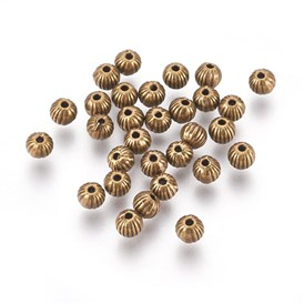 Tibetan Style Beads, Lead Free and Cadmium Free, 4mm, hole: 1mm