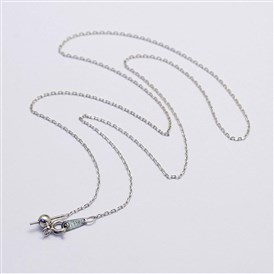 925 Sterling Silver Necklace Making, with Pendant Bails, for Half Drilled Beads