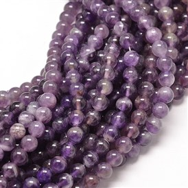 Natural Amethyst Round Bead Strands