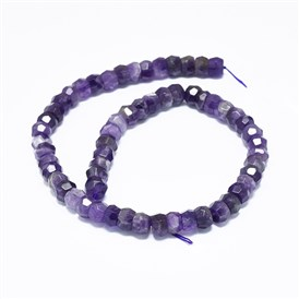 Natural Amethyst Beads Strands, Faceted, Rondelle