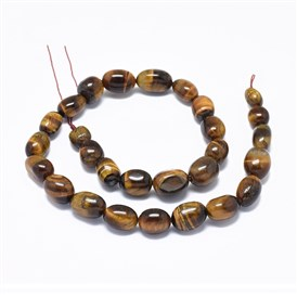 Natural Tiger Eye Beads Strands, Oval