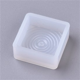 DIY Water Wave Square Silicone Molds, Resin Casting Molds, For UV Resin, Epoxy Resin Jewelry Making
