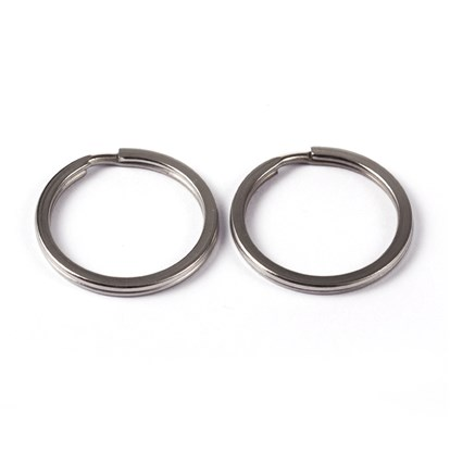 304 Stainless Steel Split Key Rings, 2x25mm-1