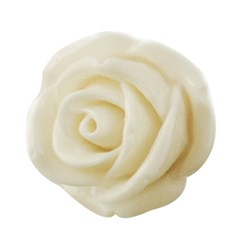 Ivory Resin Cabochon, Flower, Ivory, 15x6mm