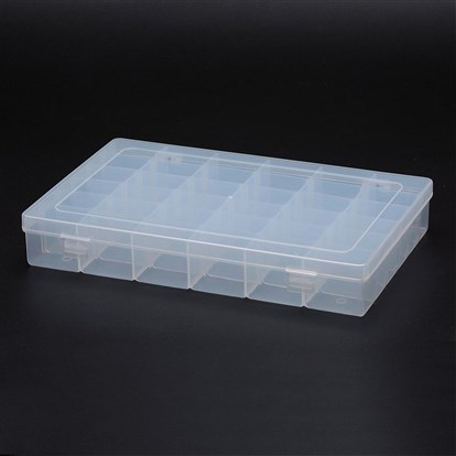 Polypropylene Plastic Bead Storage Containers, Removable, 36 Compartments, Rectangle-1