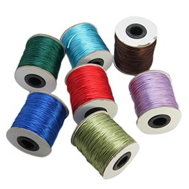 Nylon Thread, Rattail Satin Cord, Nylon Jewelry Cord for Braided Jewelry Making, Round, 1mm, about 100yards/roll