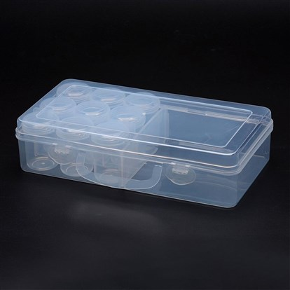 Polypropylene Plastic Bead Storage Containers, Removable, 10 Compartments Contain Bottles, Rectangle-1