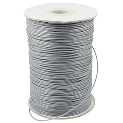 LightGrey Korean Waxed Polyester Cord, Bead Cord, LightGrey, 0.8mm; about 185yards/roll