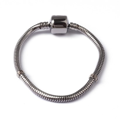 316 Stainless Steel Snake Chains European Style Bracelet Makings, with European Clasps-1